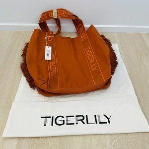 Tigerlily Webbing Tote Bag Fringed